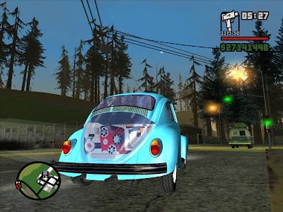 Fusca do pacote com carros para GTA San Andreas