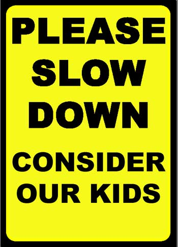 Enjoy my life: Slow down in school zones (PSA)