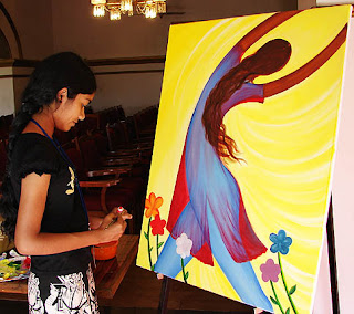 Painter in Womenscape workshop