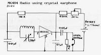 Tuned radio frequency radio receiver using MK 484 or ZN 414
