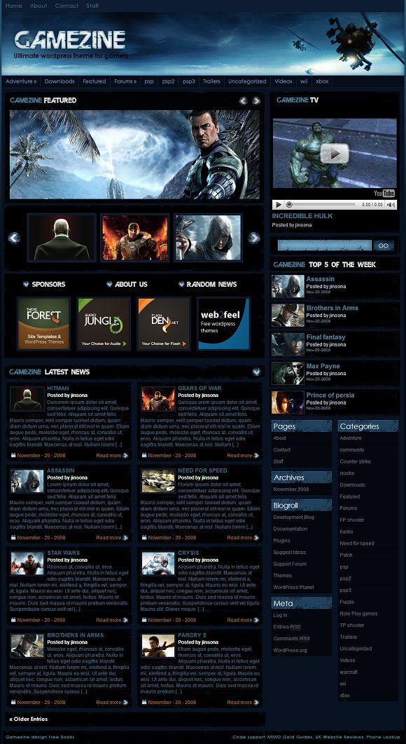 free games videos themes
