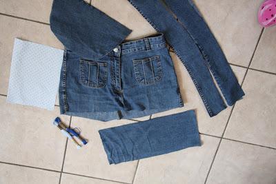 rucksack aus jeanshose nähen