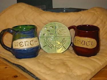 mugs and soap dish