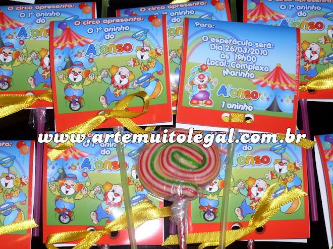 Arte muito legal - Convites e lembranças de festas infantis