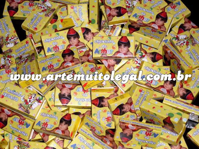Convites de aniversário infantil, Guloseimas personalizadas - Arte muito legal