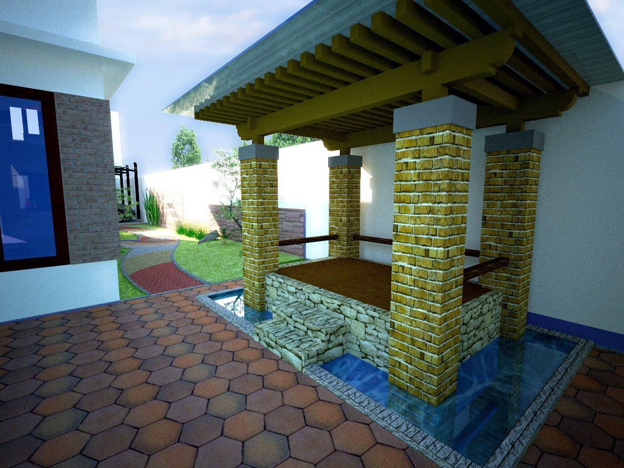 Hendita Design Desain Gazebo Dan Taman Samping Rumah