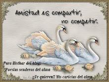 """A mi querida amiga la Gata coquetay su blog """"Mis caricias del alma""""mil gracias.por tan bello regalo"""