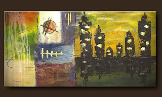 Vision Painting-City of Atlantis-Abstract Art Paintings by Carmen Guedez - Image