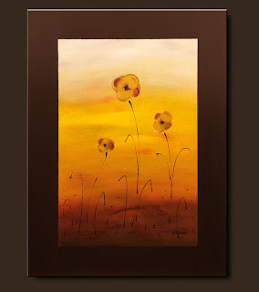 Flowers Painting-Flower Family-Abstract Art Paintings by Carmen Guedez - Image