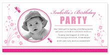 Dragonfly Pink Kids Party Invite