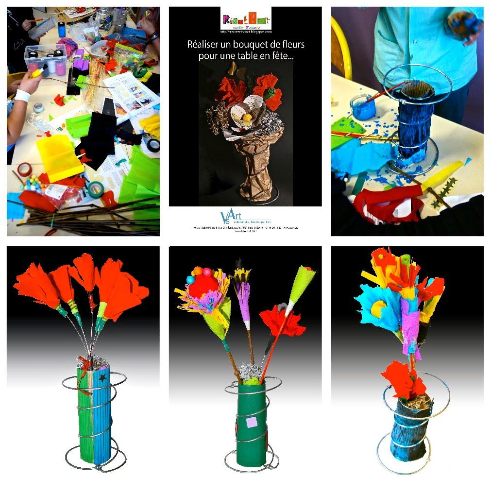 r cr art un bouquet de fleurs offrir pour les f tes. Black Bedroom Furniture Sets. Home Design Ideas