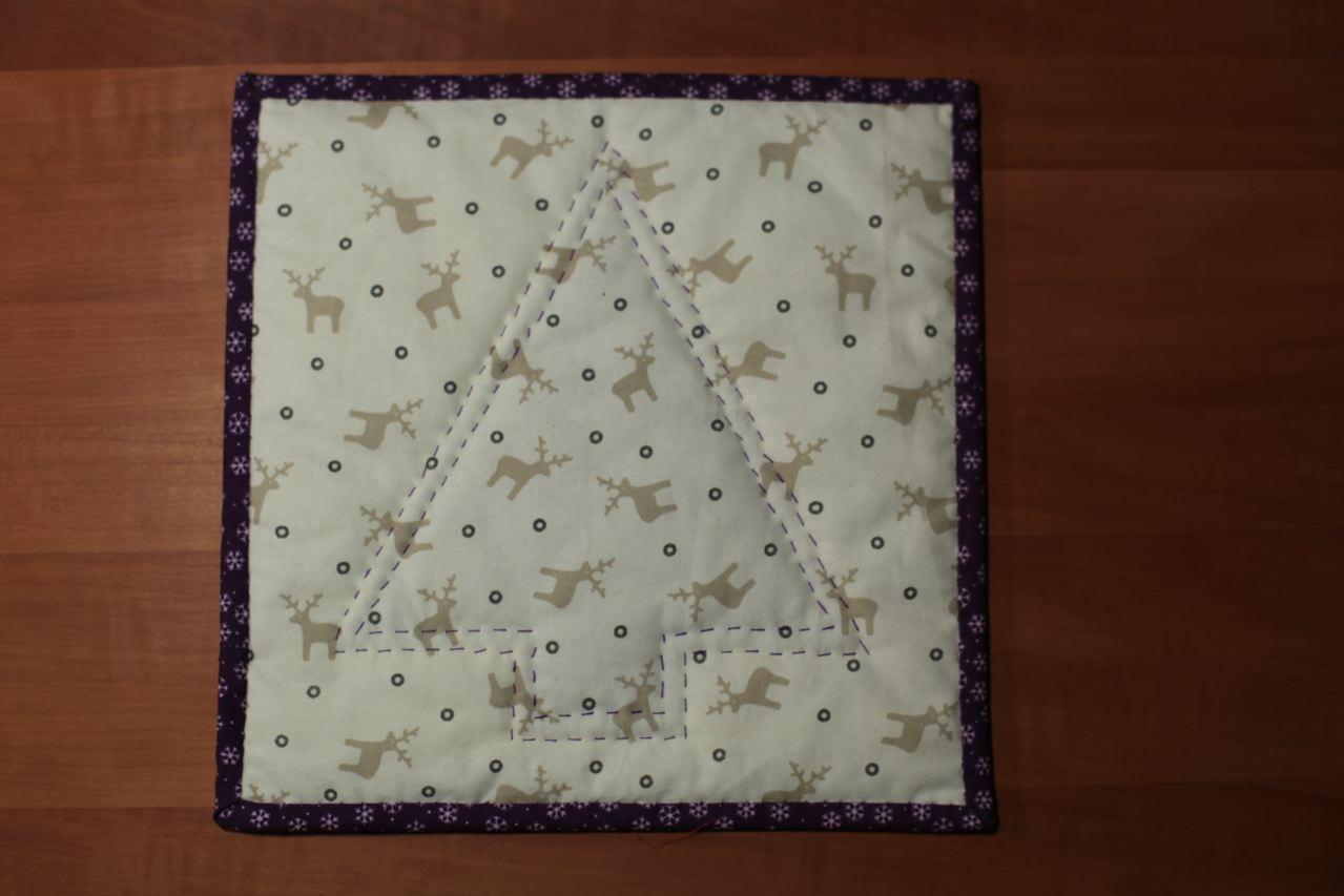 Mini quilt :: tanne in lila ::