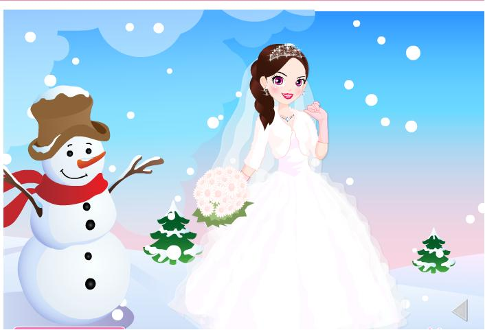 Wedding Peach Dress Up Games - Lady Wedding Dresses