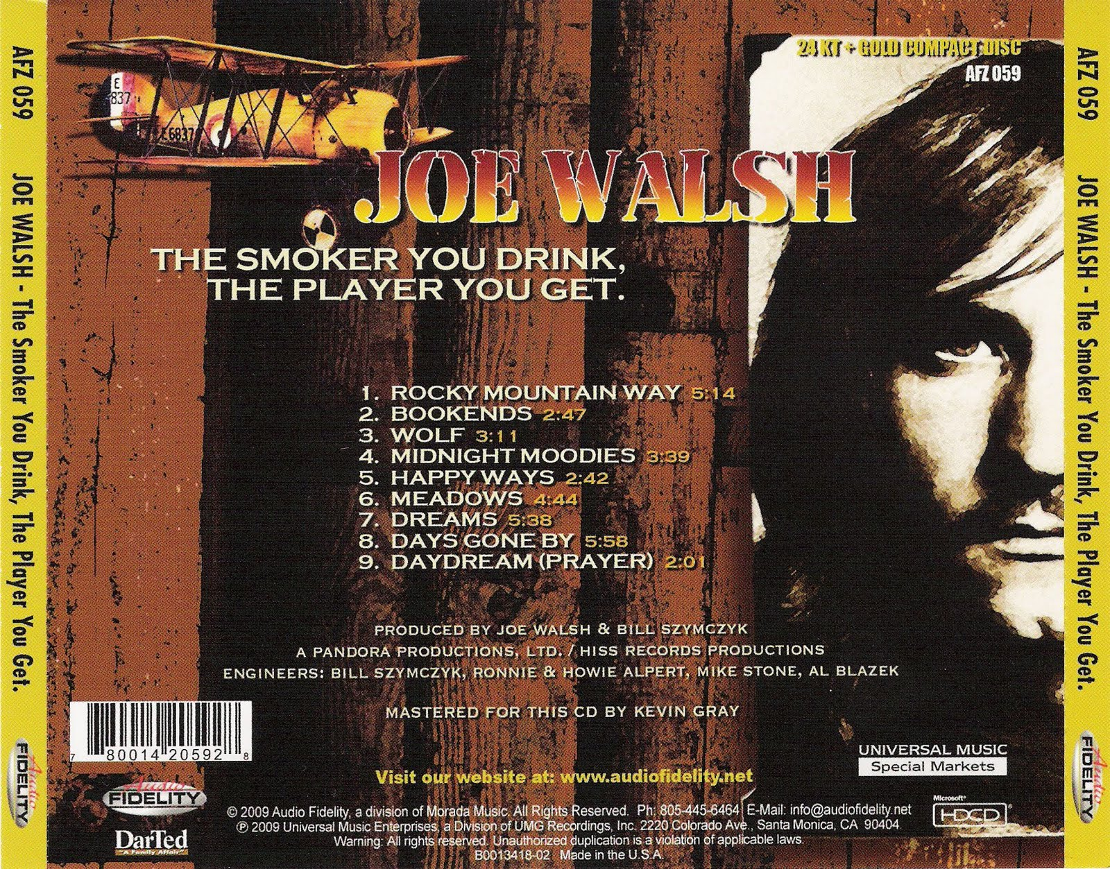Image result for joe walsh the smoker you drink