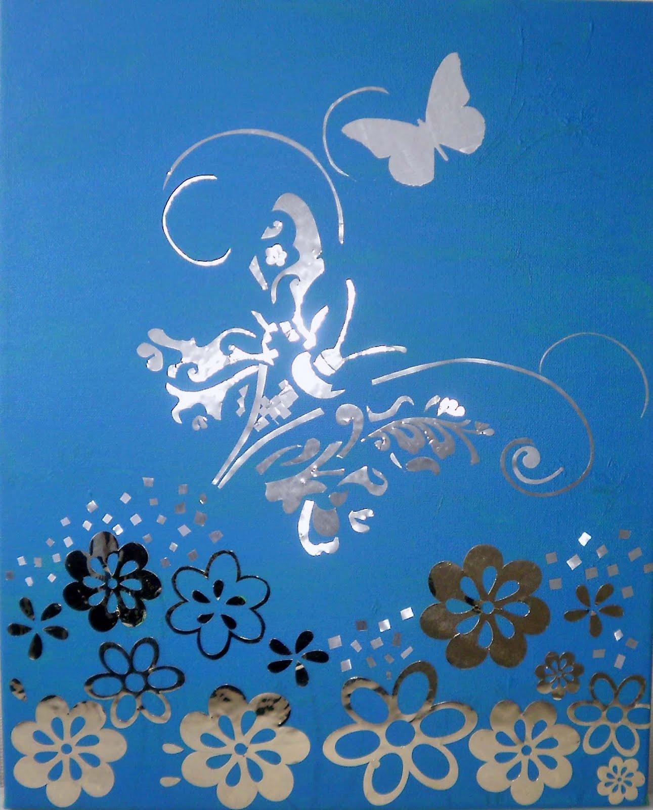 Cuadros Modernos Fantasias: Cuadro Fantasía Mariposas