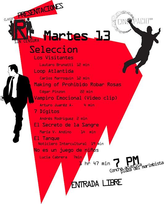 Martes 13 seleccion