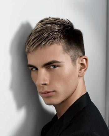 black hair with blonde highlights men
