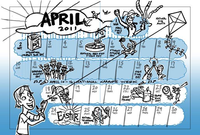 april calendar. for the April calendar.