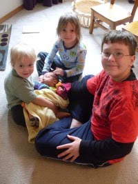 My pile of boys, fall 2009
