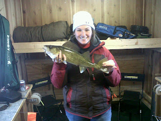 otter tail country walleye girl fish ice house shack perch northern crappie