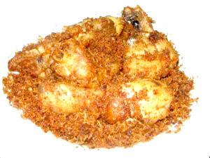 Ayam bumbu Serundeng kelapa