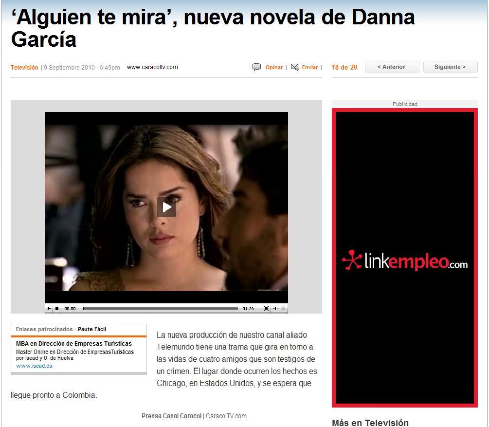 Alguien Te Mira: 'Alguien te Mira' nueva novela de Danna ...