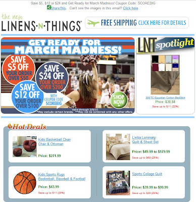 Click to view this Mar. 2, 2010 Linens 'n Things email full-sized