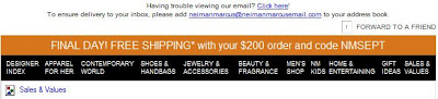 Click to view this Sept. 10 Neiman Marcus email larger