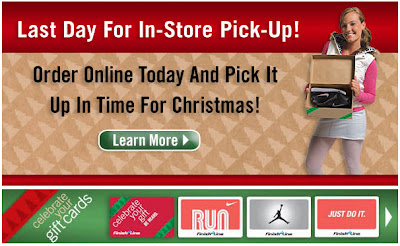 Click to view this Dec. 23, 2008 Finish Line email full-sized