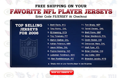 Click to view this Jan. 13, 2009 NFLshop email full-sized