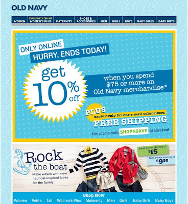 Click to view this Jan. 16, 2009 Old Navy email full-sized