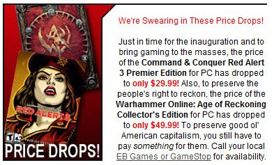 Click to view this Jan. 20, 2009 EB Games email full-sized