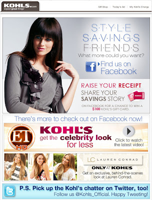 Click to view this May 28, 2010 Kohl's email full-sized