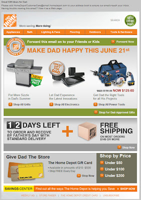 Click to view this May 28, 2009 Home Depot email full-sized