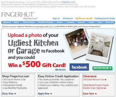 Click to view this Aug. 4, 2009 Fingerhut email full-sized