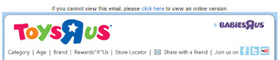 Click to view this Aug. 20, 2009 Toys R Us email full-sized