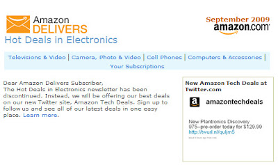 Click to view this Sept. 2, 2009 Amazon.com email full-sized