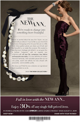 Click to view this Aug. 26, 2009 Ann Taylor email full-sized