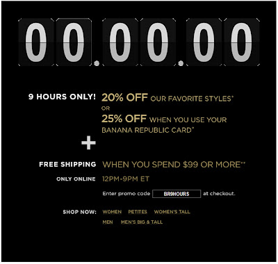 Click to view this Sept. 9, 2009 Banana Republic email full-sized