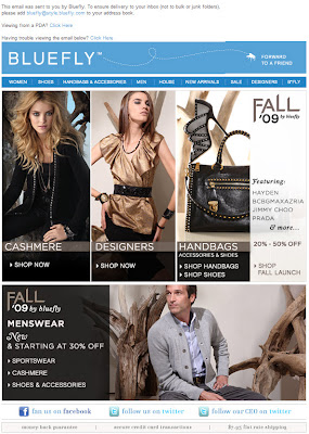 Click to view this Sept. 9, 2009 Bluefly email full-sized