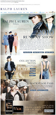Click to view this Oct. 3, 2009 Ralph Lauren email full-sized