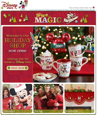 Click to view this Oct. 28, 2009 Disney Store email full-sized