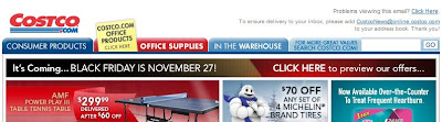 Click to view this Nov. 19, 2009 Costco email full-sized