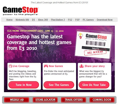 Click to view this June 16, 2010 GameStop email full-sized