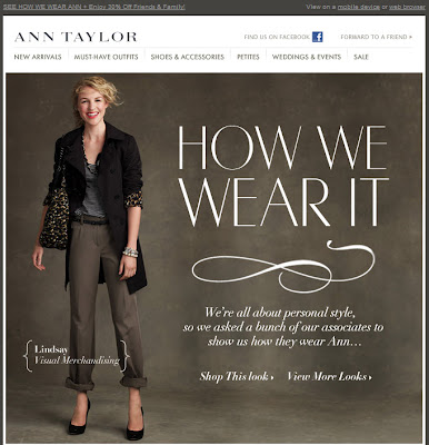 Click to view this Aug. 5, 2010 Ann Taylor email full-sized
