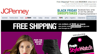 Click to view this Oct. 27, 2010 JCPenney email full-sized