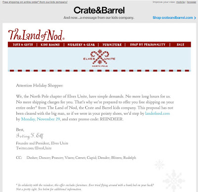 Click to view this Nov. 23, 2010 Crate & Barrel email full-sized