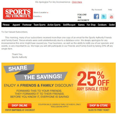 Click to view this Dec. 9, 2010 Sports Authority email full-sized
