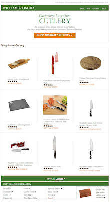Click to view this Dec. 14, 2010 Williams-Sonoma email full-sized