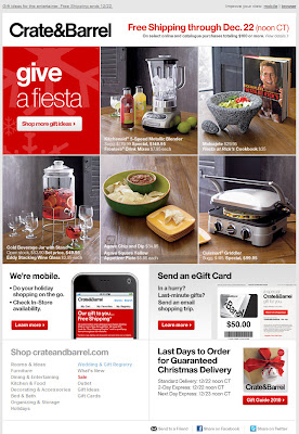 Click to view this Dec. 15, 2010 Crate & Barrel email full-sized